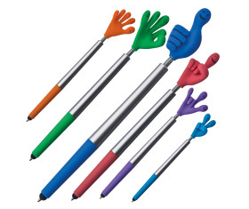 Smile-Hand-Kugelschreiber aus Kunststoff