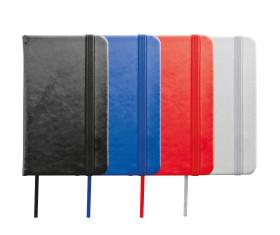 Notizbuch mit Lesebändchen und Gummibandverschluss