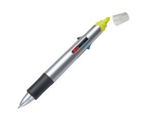 Vierfarb-Kugelschreiber mit Textmarker