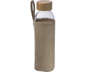Glasflasche mit Jutehülle, 500 ml