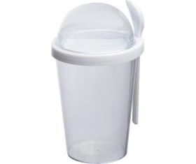 Joghurtbecher mit Löffel, 300 ml