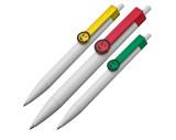 Kugelschreiber aus Kunststoff mit Clip Gesicht