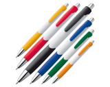 Kugelschreiber mit farbiger Gummigriffzone
